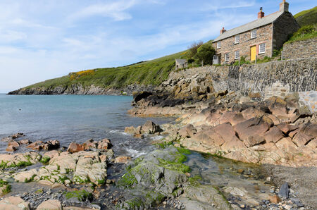 quin: Port Quin, England - May 7th, 2013: Holiday cottage in the small hamlet of Port Quin on the coast of Cornwall