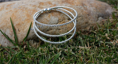 bangle: Bangle in the grass Stock Photo