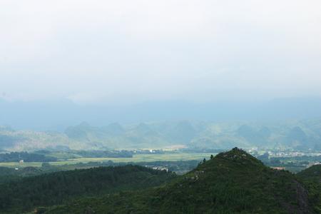Chinas Hunan Yongzhou Jiangyong natural scenery