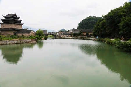 The most beautiful ancient village in China, Yonggan, Jiangyong County, Hunan Province Stok Fotoğraf