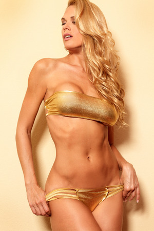 Portrait of perfect body fitness bikini woman  photo