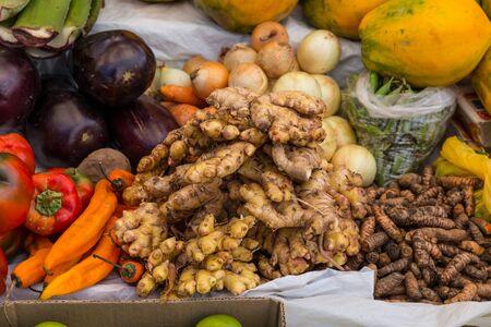 Food in Peruvian market