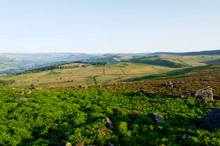 From the boulder strewn slopes of Surprise View, across Hathersage Moor and a misty Derbyshire countryside