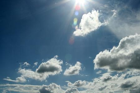 lens flare: Cielo con Lens Flare