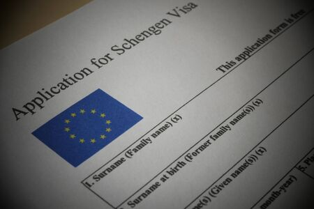 EU Schengen Visa application form, a document For applying to entry in the European Union.