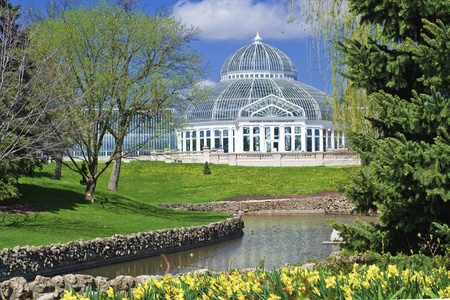 springtime at the como park conservatory, st. paul, minnesota. Stock Photo