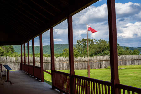 portage: a porch view from grand portage national monument