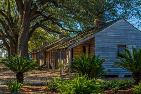 a row of slave houses, at the historic oak alley plantation, vacherie, louisiana Фото со стока - 76935721