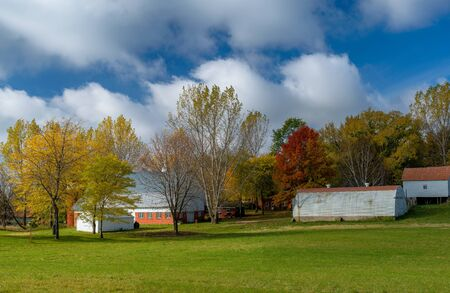 a rural washington county farm in autumn, in eastern minnesota Stock Photo