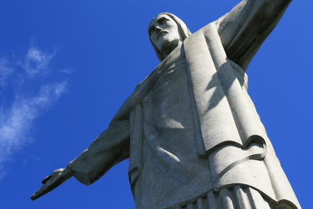 cristo: Christ the Redeemer, O Cristo Redentor, is a statue of Jesus Christ in Rio de Janeiro, Brazil Editorial