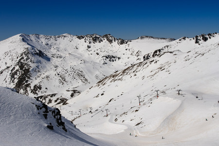 remarkables ski field, queenstown, new zealand Stock Photo