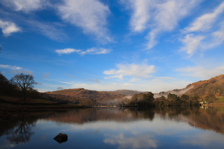 cumbria: Lake district in national park, cumbria, england