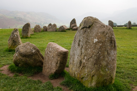 cumbria: Castlerigg Stone Circle in Lake District, Cumbria Stock Photo