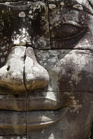 bayon: The Bayon Prasat Bayon Khmer temple at Angkor in Cambodia Stock Photo