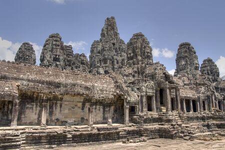 prasat bayon: The Bayon Prasat Bayon Khmer temple at Angkor in Cambodia Stock Photo