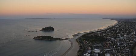 Tauranga, in the Bay of Plenty, New Zealand, from Mount Maunganui