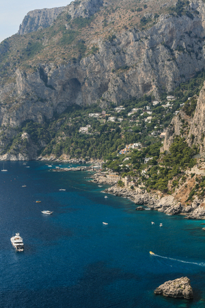 Picturesque Marina Piccola on Capri island in Italy