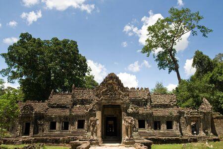 Preah Khan Temple Entrance, Angkor, Cambodia