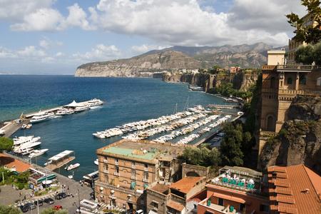 View across the bay, Sorrento, Italy Stock Photo