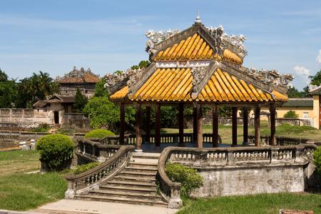 nam: Historic architecture inside The Royal Citadel, Hue, Vietnam