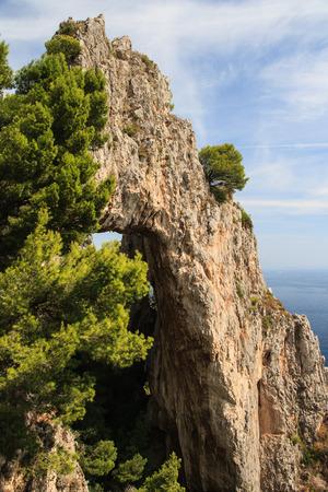 Natural Arch in Capri, Italy