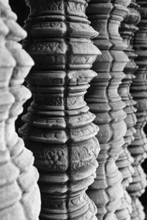 Ankor Wat Stone Pillar, Cambodia, Asia