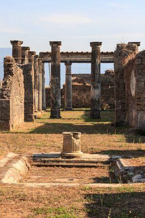 Pompeii ancient pillar ruins