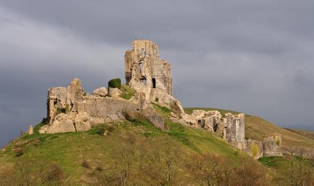 ruin: Dramatic Corfe Castle Ruin