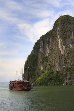 Halong Bay Junk cruise boat, Vietnam