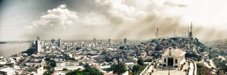 guayaquil: Panorama Guayaquil Ecuador  Stock Photo