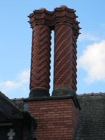 chester: Chimneys in Chester Stock Photo