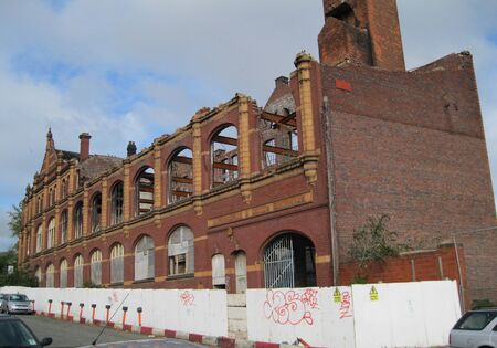 derelict: Derelict Factory in Birmingham, England Stock Photo