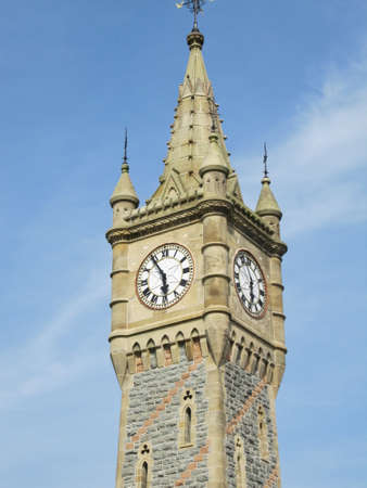 refurbished: Stone Clock Tower in Machynlleth