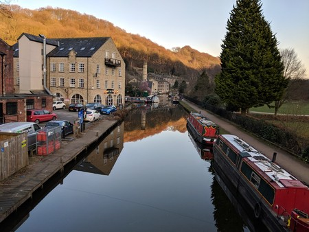 Canal and mill at Hebden Bridge, Yorkshire