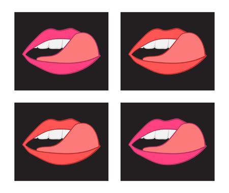 licking: licking lips pop sketch set