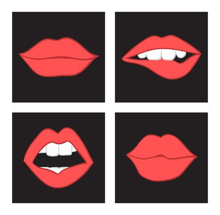 lips smile: lips pop sketch set