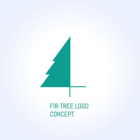 bisiness: vector fir-tree creative bisiness concept symbol