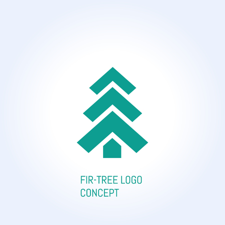 bisiness: vector fir-tree creative logo bisiness concept symbol