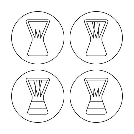 djembe: Djembe contoured icon set. Digital vector illustration. Illustration