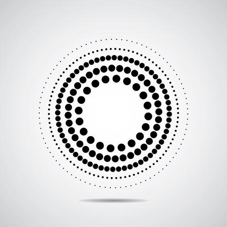 ハーフトーン ドット サークル。黒に白と非常に良い 写真素材 - 45830892