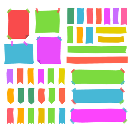 big office note pack. bookmark, blank stick note, Adhesive Tapes collection Illustration