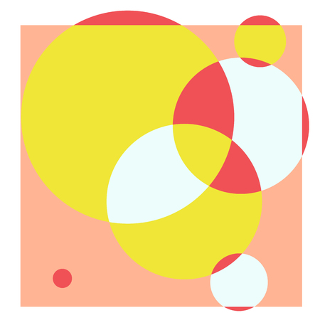 constructivism: vector abstract creative concept art cool background