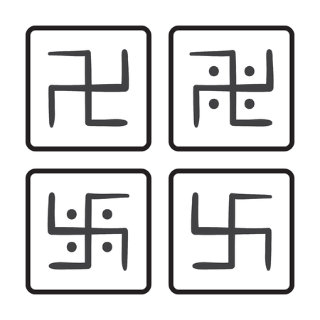 swastik: vector hand drawn swastika on a white background Illustration