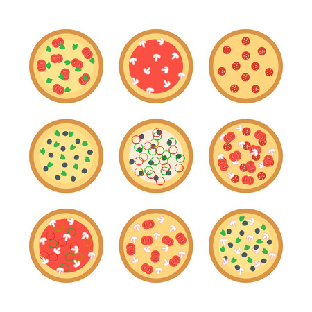 margherita: vector pizza creative concept on a white background