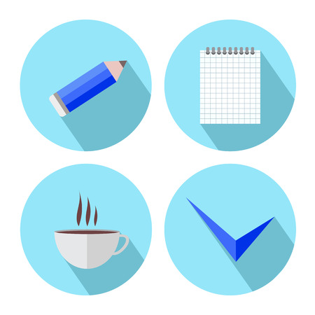 todo list: vector flat To-Do List Icons on a white background.