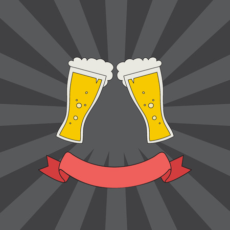 clink: vector hand drawn clink glasses logo. sketch toasting glasses of beer. creative friendship concept