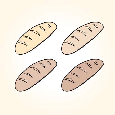 scetch: vector hand drawn bread. soft tack scetch on a white background Illustration