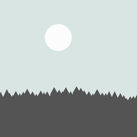 rockies: vector majestic concept forest mountains creative background