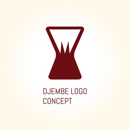 djembe: African djembe logo concept icon set. Digital vector illustration. Illustration