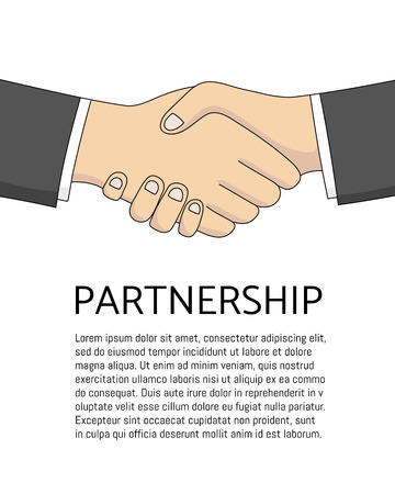 equal opportunity: vector handshake sketch. Business Partneship. Creative team work. Hand drawn communication concept